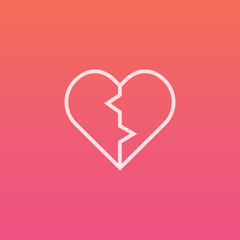 Broken heart - Finely crafted line icons