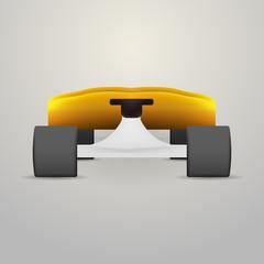 Illustration of yellow longboard