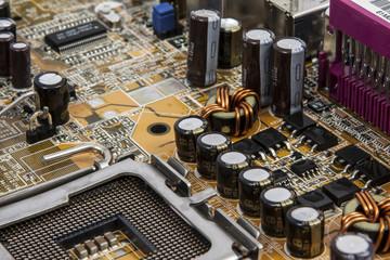 electronics, computer mainboard