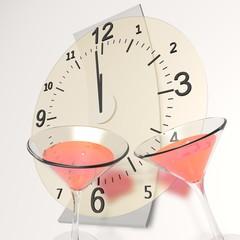 Twaalf uur, gelukkig nieuw jaar