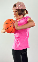 child exercising with a ball