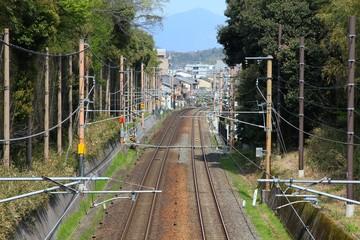 Railway tracks in Japan