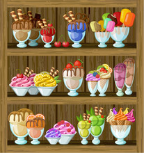 Ice cream shop.