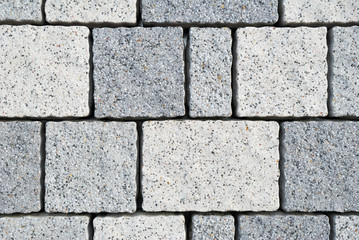 Small grey and white tiles texture