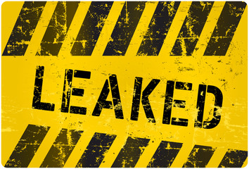 leak sign, worn and grungy, vector illustration