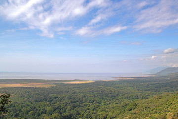 Overlook of Lake Manyara National Park Tanzania