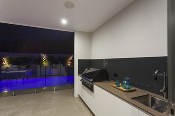 Bbq and swimming pool