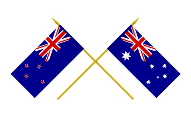 Flags, Australia and New Zealand