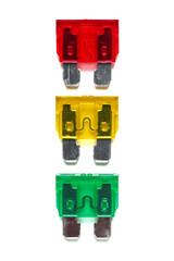 Set of car blade type fuses
