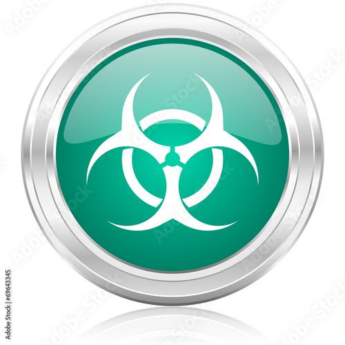 canvas print picture biohazard internet icon