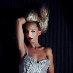 Blonde beautiful woman