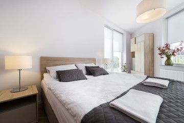 Modern and comfortable bedroom interior