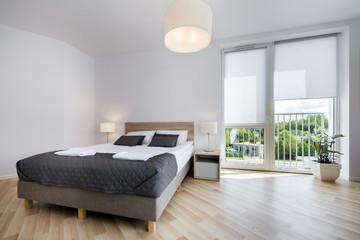 Bright and comfortable bedroom interior design