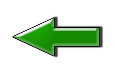 Zielona strzałka