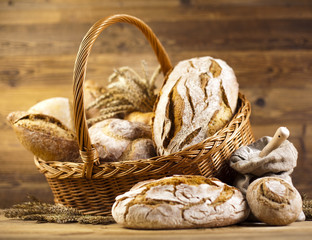Breads in basket