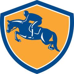 Equestrian Show Jumping Side Shield Retro