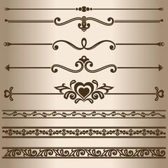 Design elements - dividing lines and ornaments.