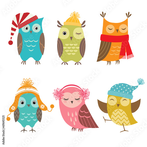 Winter owls - 69645521