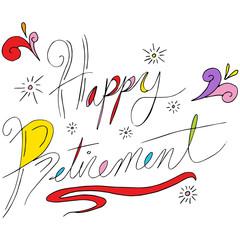 Happy Retirement Text