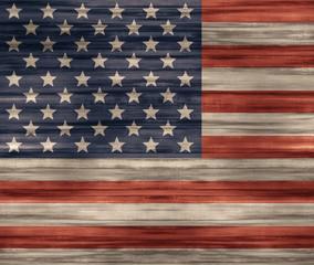 United States flag Wood texture