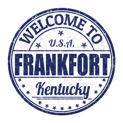 Welcome to Frankfort stamp