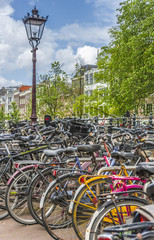 Bicycle in Amsterdam, Netherlands.