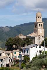 Village church in Cinque Terre, Italy