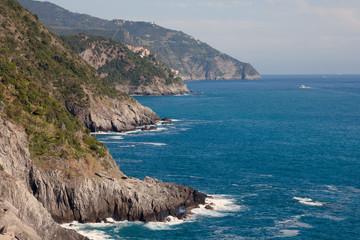 Cinque Terre coast in Liguria, Italy