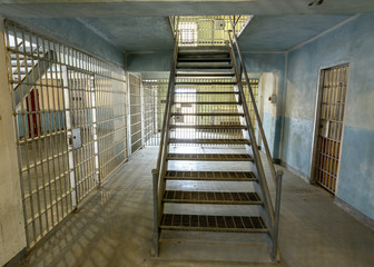 Prison corridor leads to the second floor