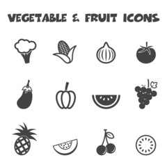vegetable and fruit icons