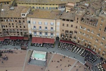 Siena Italy - Piazza del Campo view, tuscany