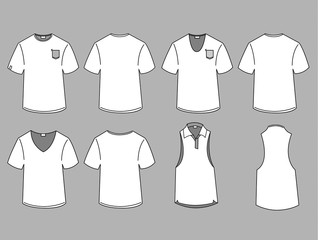 Man's t-shirt design template