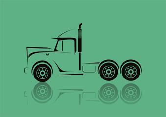 Truck symbol vector. Freight transportation.