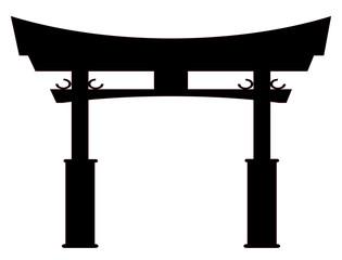 Tori Gate Silhouette