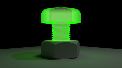 radiant green screw
