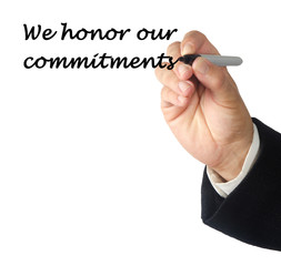 We honor our commitments