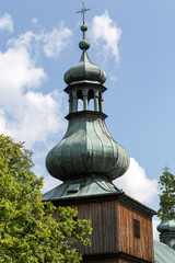 the wooden antique church in Podstolice near Cracow. Poland