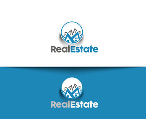 Abstract Real Estate Icons and vector logo