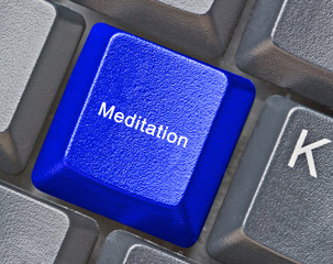 Keyboard with hot key for  meditation