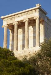Acropolis of Athens. Temple of Athena Nike. Greece