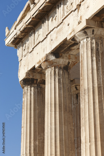 Foto op Canvas Athene Acropolis of Athens. Parthenon frieze. Greece