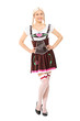 Full length portrait of a girl in German costume