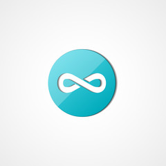 Abstract Infinity web icon