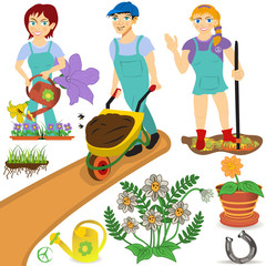 gardener illustrations