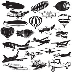 airship black icons