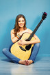 musician girl with guitar