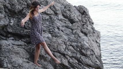 Girl in dance stones