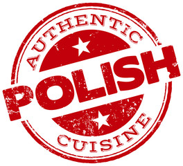 polish cuisine stamp