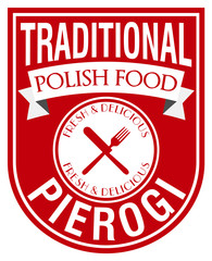 polish pierogi label