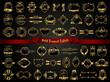 Gold framed labels - vintage style - 69656985